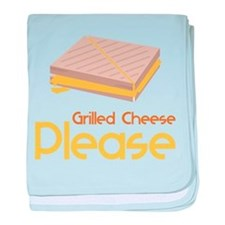 Grilled Cheese Please baby blanket