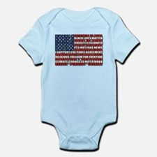 Political Protest American Flag Body Suit