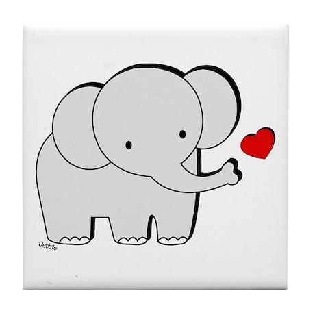 Elephant Love Tile Coaster