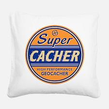 Cute Cacher Square Canvas Pillow