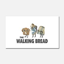 the walking bread Car Magnet 20 x 12