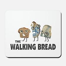 the walking bread Mousepad