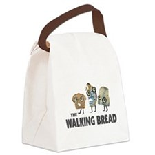 the walking bread Canvas Lunch Bag