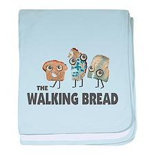 the walking bread baby blanket