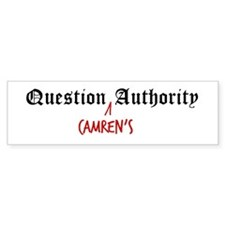 Question Camren Authority Bumper Bumper Sticker