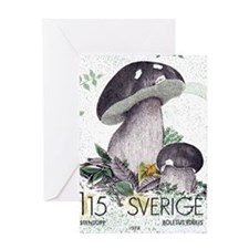 1978 Sweden Porcino Mushroom Postage Stamp Greetin