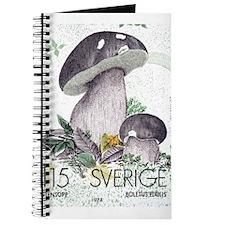1978 Sweden Porcino Mushroom Postage Stamp Journal