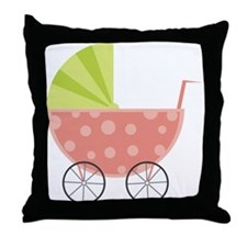 Baby Carriage Throw Pillow