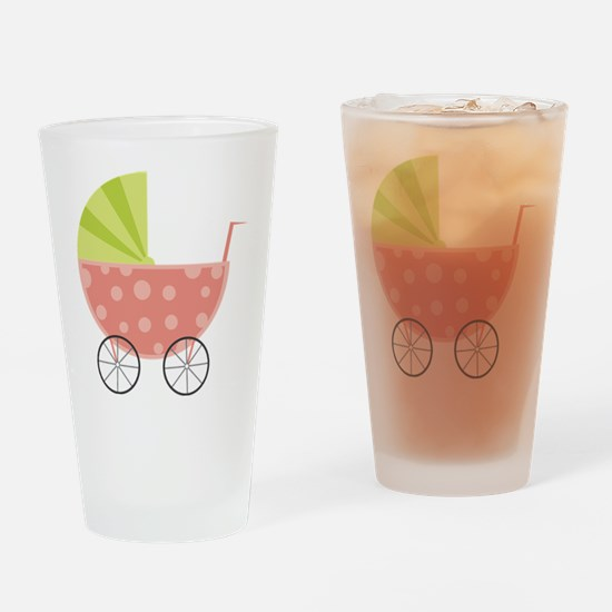 Baby Carriage Drinking Glass