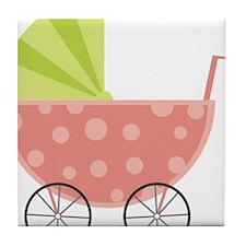 Baby Carriage Tile Coaster