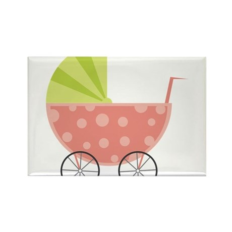 Baby Carriage Rectangle Magnet