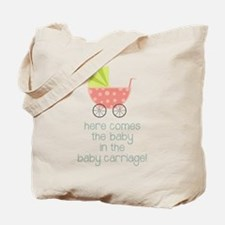 Baby in the Baby Carriage Tote Bag