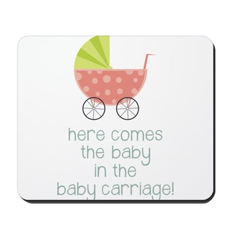 Baby in the Baby Carriage Mousepad