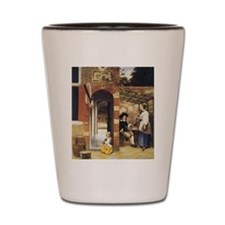 Pieter de Hooch Courtyard Of A House Shot Glass