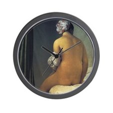 Jean Auguste Dominique Ingres Bather Wall Clock
