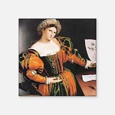 """Lorenzo Lotto Lucretia Square Sticker 3"""" x 3"""""""