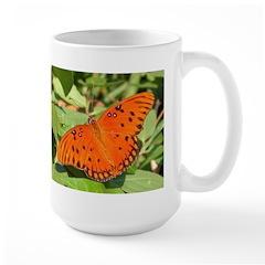 Gulf Fritillary Butterfly Large Mug