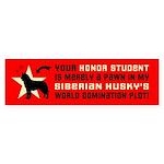 SIBERIAN HUSKY World Domination Sticker