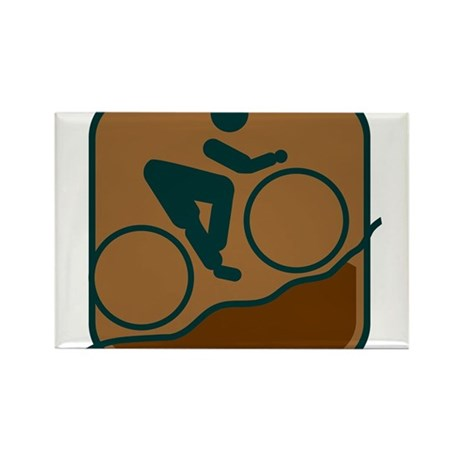 Mountainbike Rectangle Magnet