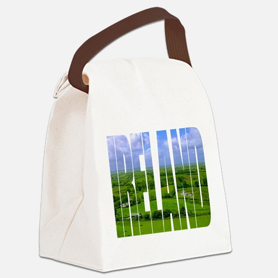 Ireland Green Pastures Photo Canvas Lunch Bag