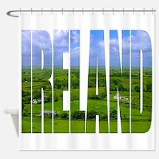 Ireland Green Pastures Photo Shower Curtain