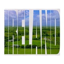 Ireland Green Pastures Photo Throw Blanket