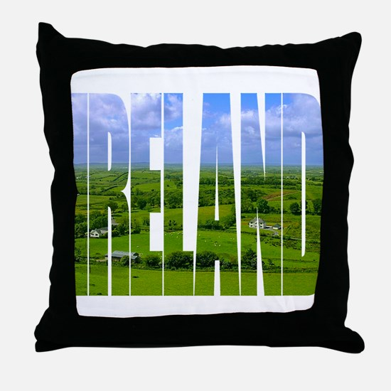 Ireland Green Pastures Photo Throw Pillow