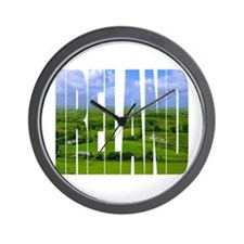 Ireland Green Pastures Photo Wall Clock
