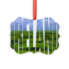 Ireland Green Pastures Photo Ornament