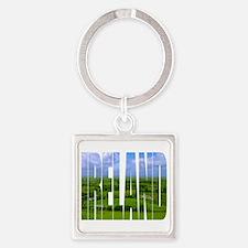 Ireland Green Pastures Photo Square Keychain