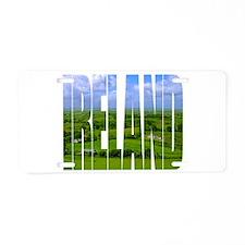 Ireland Green Pastures Photo Aluminum License Plat