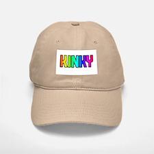 KINKY RAINBOW TEXT KHAKI Baseball Baseball Cap