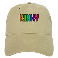 KINKY RAINBOW TEXT KHAKI Baseball Cap