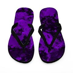 Marble Galaxy Flip Flops (Purple)