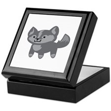 Happy Wolf Keepsake Box
