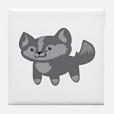 Happy Wolf Tile Coaster