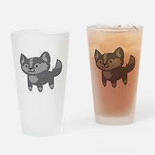 Happy Wolf Drinking Glass