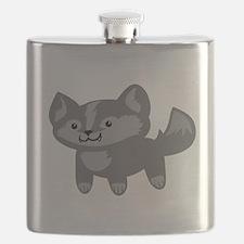 Happy Wolf Flask