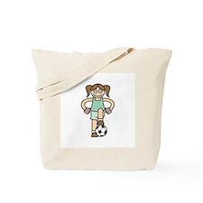 Cute Soccer Girl Tote Bag