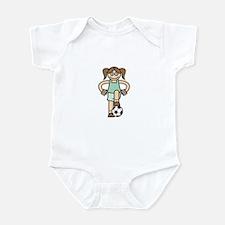 Cute Soccer Girl Infant Bodysuit