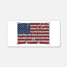Political Protest American Aluminum License Plate