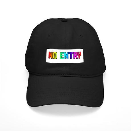 NO ENTRY RAINBOW TEXT Black Cap