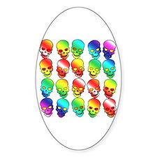 GLBT Rainbow Halloween Oval Decal