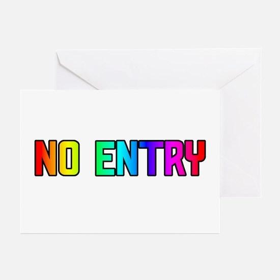 NO ENTRY/GO AHEAD RAINBOWTEXTGreetingCards(Packof6