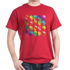 GLBT Rainbow Halloween Dark Red T-Shirt