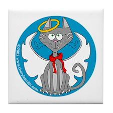 Angel Kitty Tile Coaster
