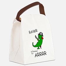 RAWR is Dinosaur for ARRR (Pirate Dinosaur) Canvas