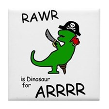 RAWR is Dinosaur for ARRR (Pirate Dinosaur) Tile C