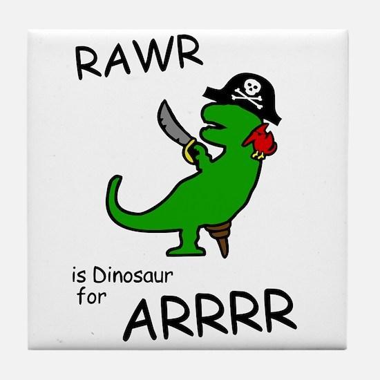 RAWR is Dinosaur for ARRR (Pirate Dinosaur) Tile C