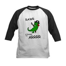 RAWR is Dinosaur for ARRR (Pirate Dinosaur) Baseba
